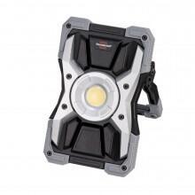 1173110100 - Refletor de trabalho LED recarregável RUFUS / luz de oficina LED para exterior (3000lm, 30W, 5 modos, Powerbank, carregador USB, feito de alumínio fundido) - BRENNENSTUHL
